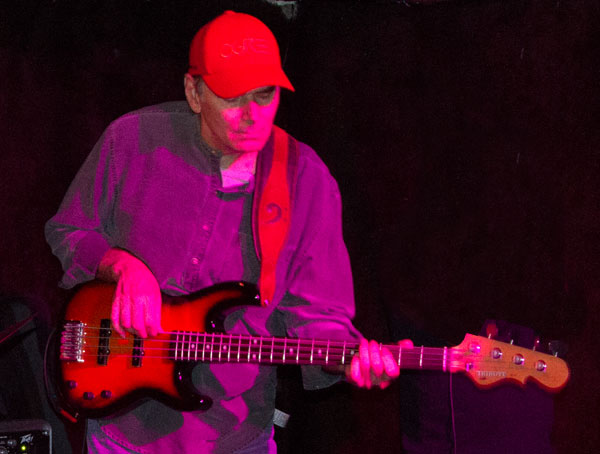 Mike on bass at the Huntington Beach Blues Jam.